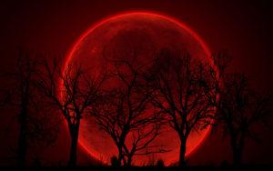 FULL MOON & SOLAR ECLIPSE IN AQUARIUS – I FEEL A BLOOD RED MOON A